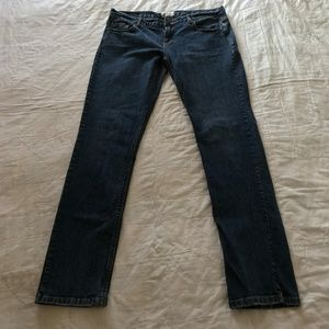Dark Wash Low Rise Skinny Denim Jean W34 L31 R9